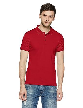 3872af37 United Colors of Benetton Men's Solid Regular Fit Polo  (18A3DTPJ3033I_17C_EL_Barbados Cherry(Red))