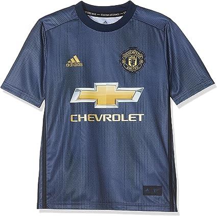 Adidas Manchester United 2018 19 Kids Third Soccer Jersey Shirt Blue Gold Shorts Amazon Canada