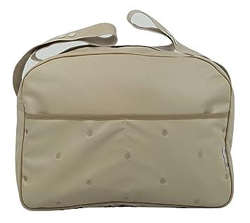Maxi bolso para carrito de bebé en ecopiel arena y detalles ...