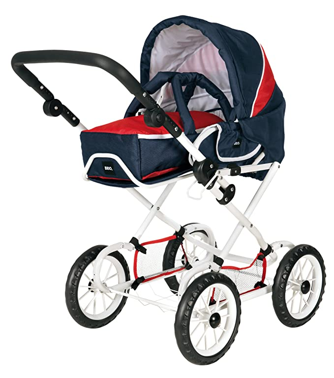 Brio 24890312 - Carrito de bebé para muñeco, color azul y rojo: Amazon.es: Juguetes y juegos