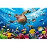 Sopu 100 Pieces Puzzle for Kids Ages 4-8 Underwater Dolphins Love Design 100 Piece Jigsaw Puzzles Toys for Boys and Girls