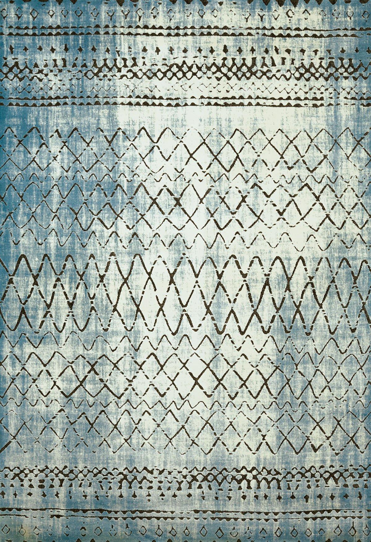 United Weavers of America  Lucid Area Rug, 7'10'' x 10'6''/Oversize, Aqua by United Weavers of America