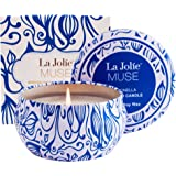 LA JOLIE MUSE Citronella Candle Mosquito Insect Repellent 100% Soy Wax Scented Candle Travel Tin 45Hours