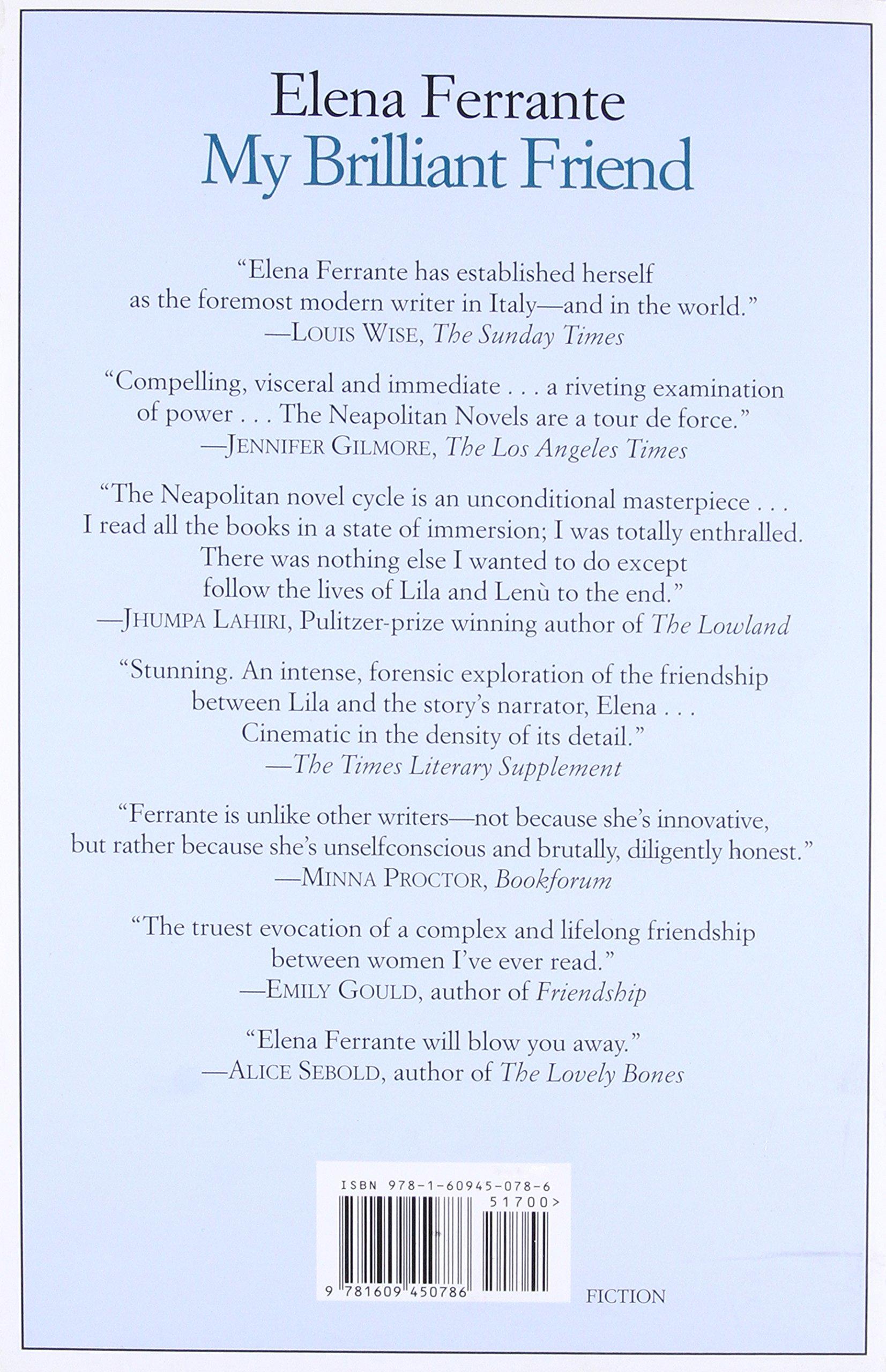 My Brilliant Friend: 1 (Neapolitan Novels 1): Amazon.es: Vv.Aa.: Libros en idiomas extranjeros