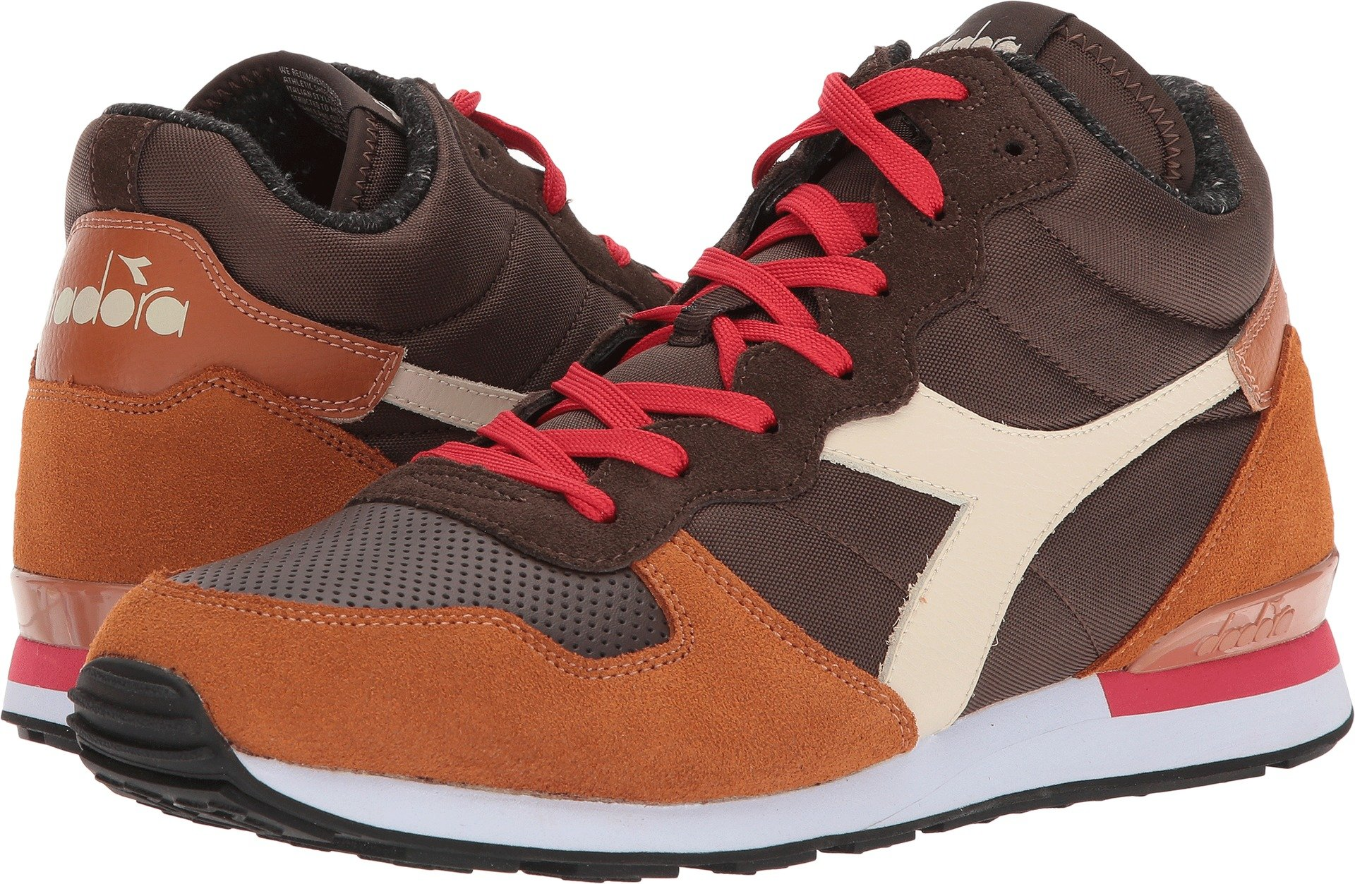 Diadora Unisex Camaro Mid Chocolate Brown/Leather Brown 12.5 Women/11 Men M US by Diadora