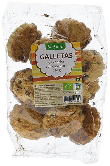 Biospirit Galletas de Espelta con Chocolate de Cultivo Ecológico - 5 Paquetes de 20 gr -