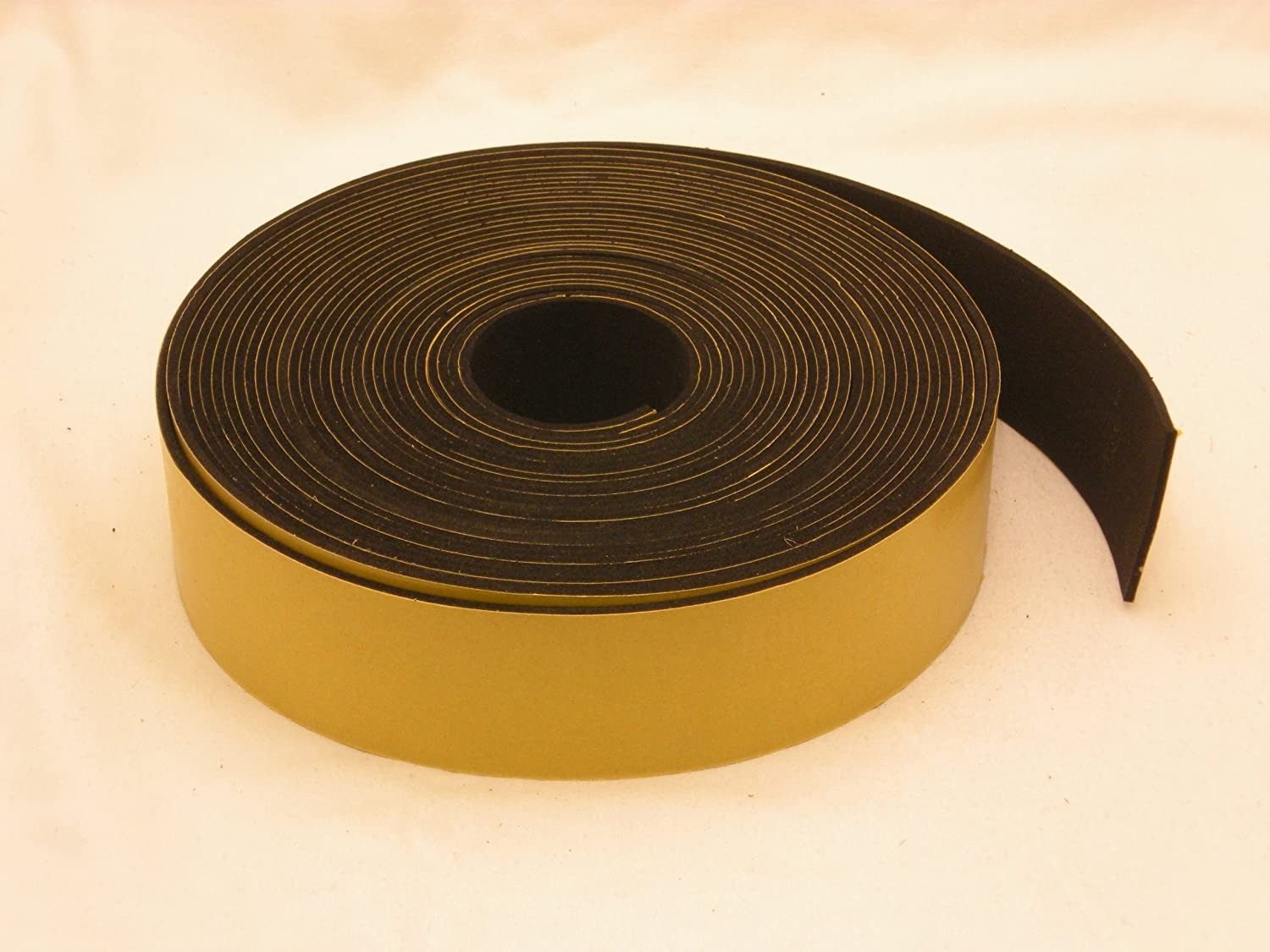 Neoprene Rubber self adhesive strip 1 1 2 wide x 1 16 thick x 33 feet long