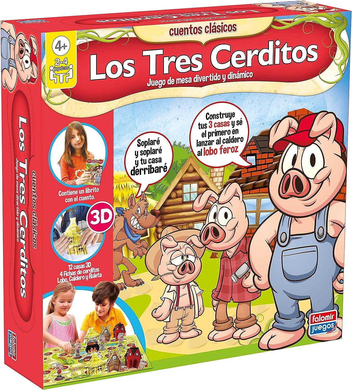 Falomir - Los Tres cerditos, Juego de Mesa (25017): Amazon.es: Juguetes y juegos