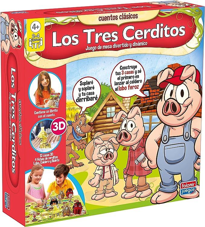 Falomir - Los Tres cerditos, Juego de Mesa (25017): Amazon.es ...