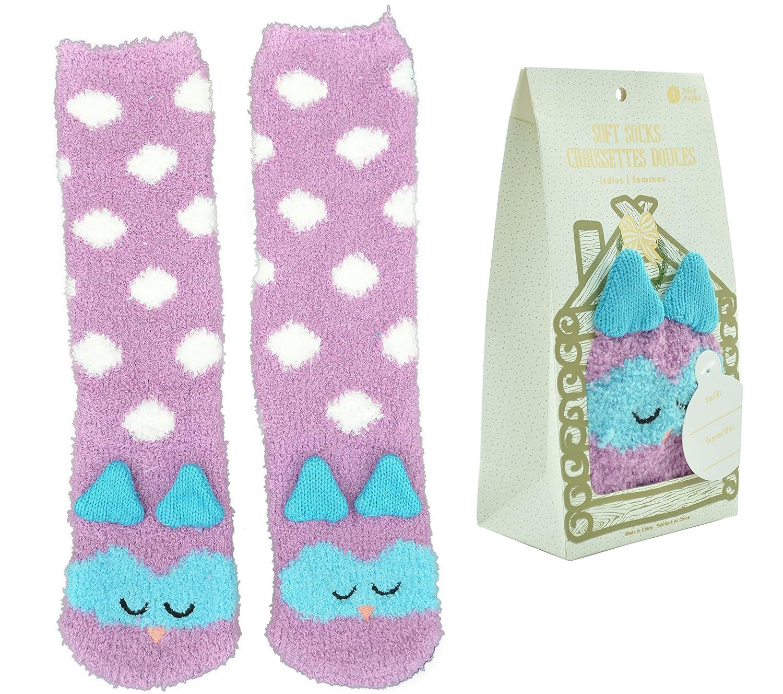 Gertex Womens 3d Adorable Animal Critter Soft Socks In Gift Bag Owl