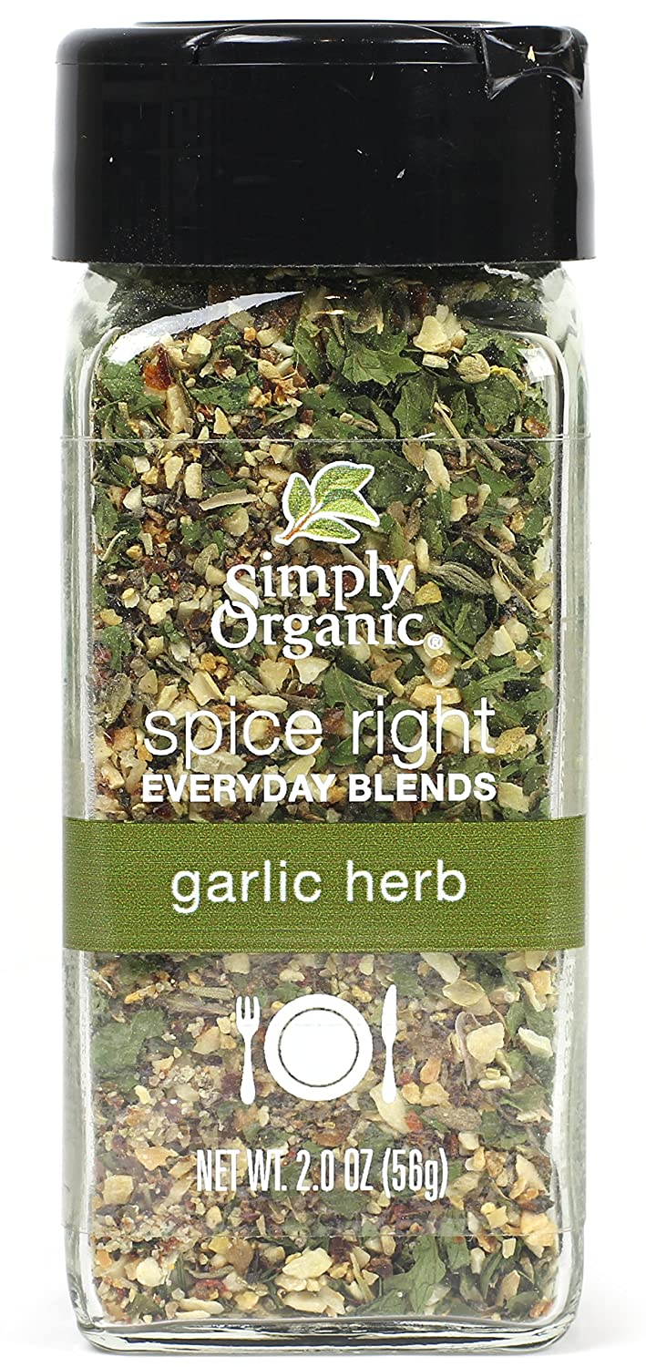 Amazon.com: Frontier Simply Organic Spice Right Everyday Seasoning Blends,  Garlic & Herb, 2 Ounce: Prime Pantry