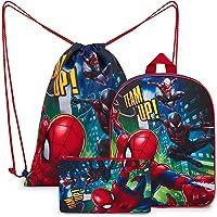 Marvel Mochila Niño De Spiderman, set Mochila escolar con Estuche Escolar Y Mochila Saco