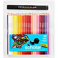 48 Count Prismacolor Scholar Colored Woodcase Pencils (Assorted Colors)