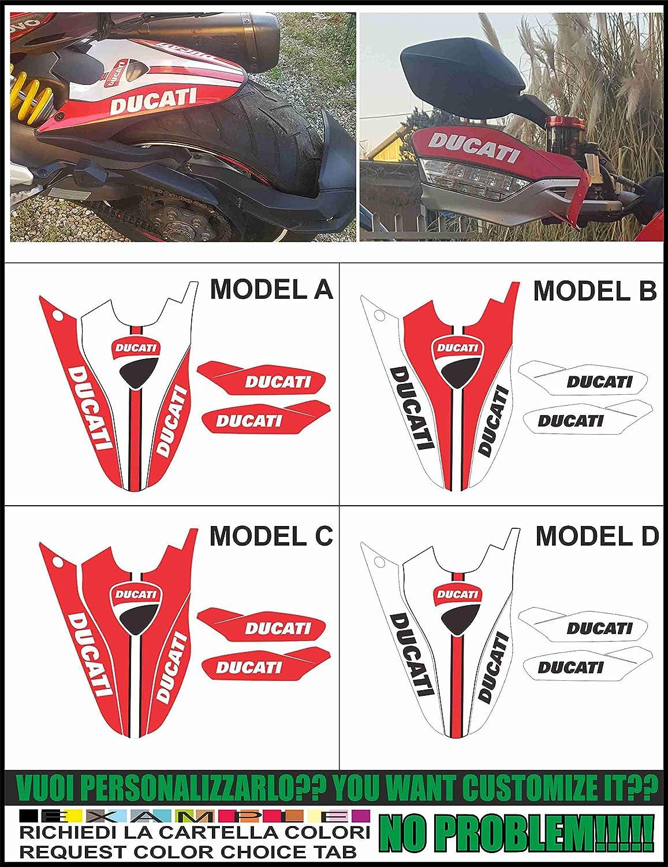 Kit adesivi Decal stikers Ducati MULTISTRADA 950 1200 2015 2017 Enduro 1260 Kit PARAFANGO + für Mani: Amazon.es: Coche y moto