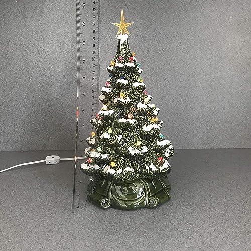 Ceramic Christmas Tree With Snow.Amazon Com Traditional Retro Ceramic Christmas Tree Green