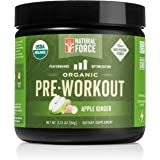 Organic Pre Workout – Apple Ginger *Best All Natural Pre-Workout Powder* Creatine Free Energy Booster to Burn Fat and Build M