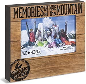 Pavilion Gift Company 67068 Memories are Made at The Mountain Photo Frame, 7-1/2 x 6-3/4""