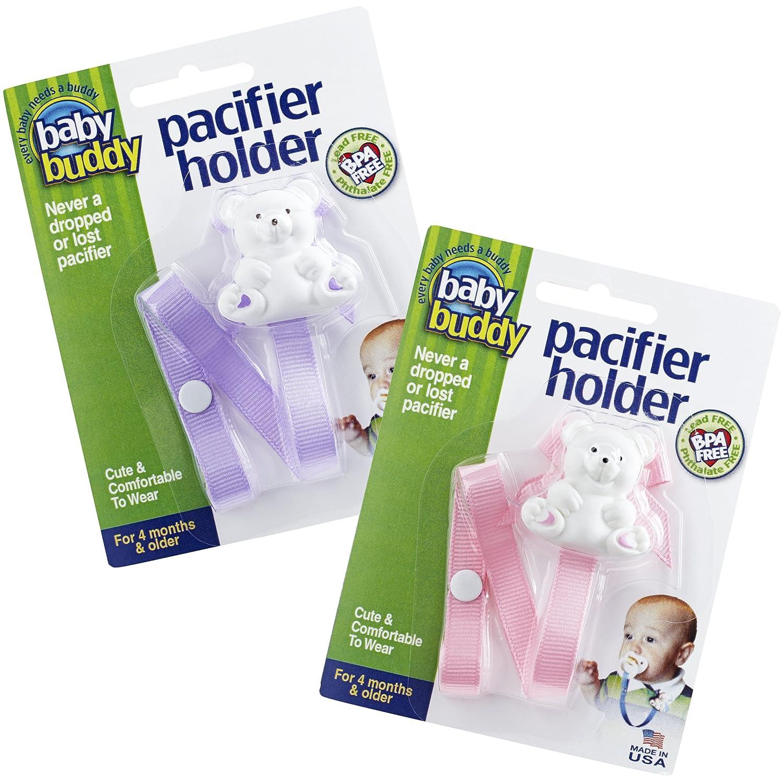 【返品?交換対象商品】 Baby Buddy Bear Bear Pacifier Holder 2ct for Holder B006WZYW7O 0-36 Months (Lilac/Light Pink) B006WZYW7O, ヘルシースイーツ工房マルベリー:45fcb312 --- a0267596.xsph.ru