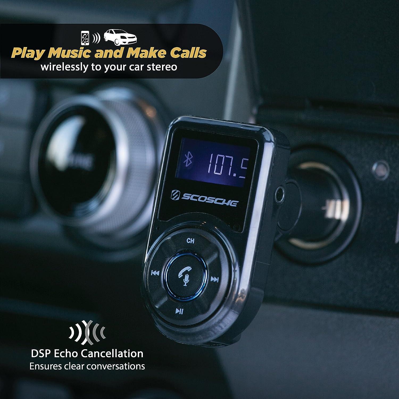 Scosche Btfm3 Bluetooth Fm Transmitter Mit Usb Anschluss Und Fernbedienung Für Mobile Geräte Smartphone Auto Lkw Kfz Elektronik