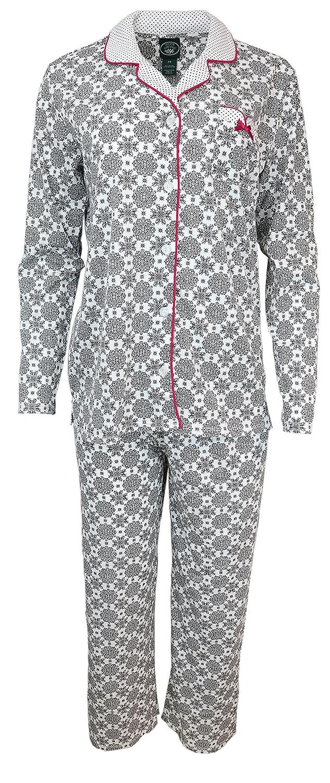 339a0af84 Laura Ashley Women's Cotton Blend Pajama Set at Amazon Women's Clothing  store: