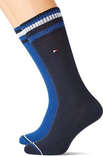 Tommy Hilfiger Th Men Pete Sock 2p Calcetines, Azul (Tommy Original 085), 43/46 (Talla del fabricante: 043) (Pack de 2) para Hombre: Amazon.es: Ropa y accesorios