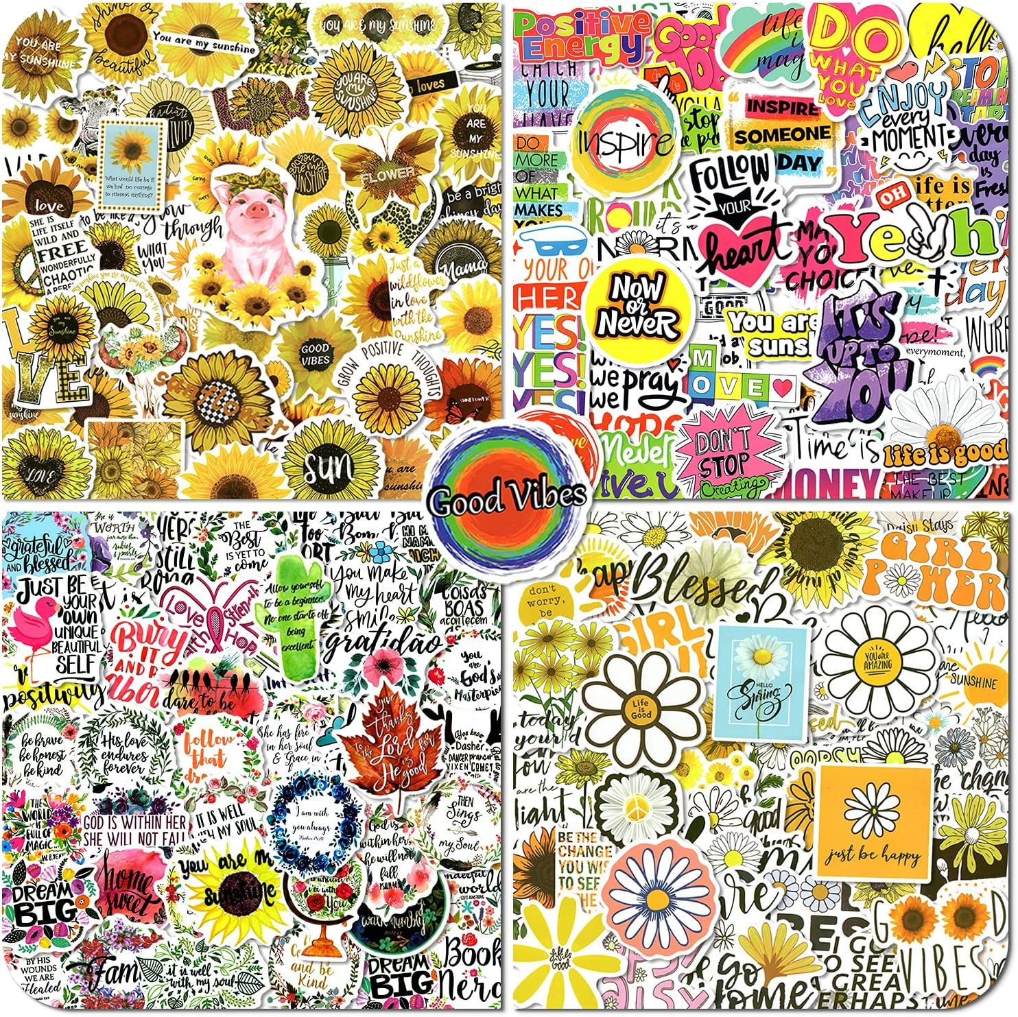 200pcs Inspirational Stickers for Laptop, Reward Motivational Stickers Decals Quote for Water Bottles, Positive Word Stickers for Scrapbook, Waterproof Vinyl Stickers for Adults, Tenns