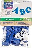 Darice FLT-1012 100Piece, Felties Felt Stickers, Royal Blue Alphabet