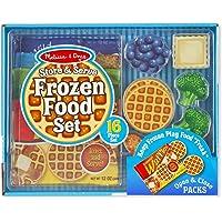 Melissa & Doug Store and Serve木制冷冻食品玩具,含可再密封布袋