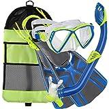 U.S. Divers Regal Jr Pro Mask, Large/5-8, Blue