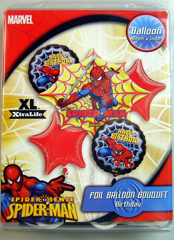 Amazon.com: Spiderman de Marvel cumpleaños Foil Globo Ramo ...