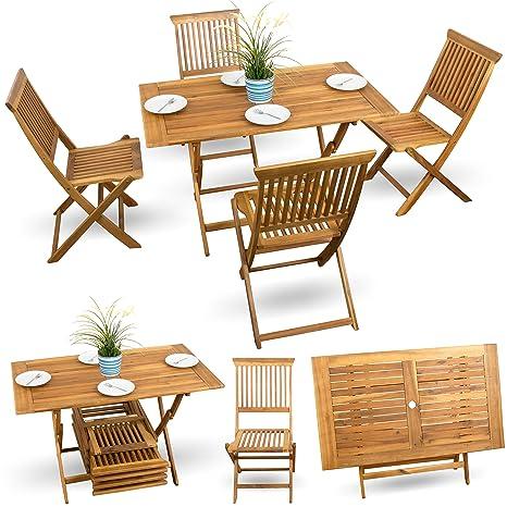 5 piezas, madera de muebles de jardín muebles de jardín ...
