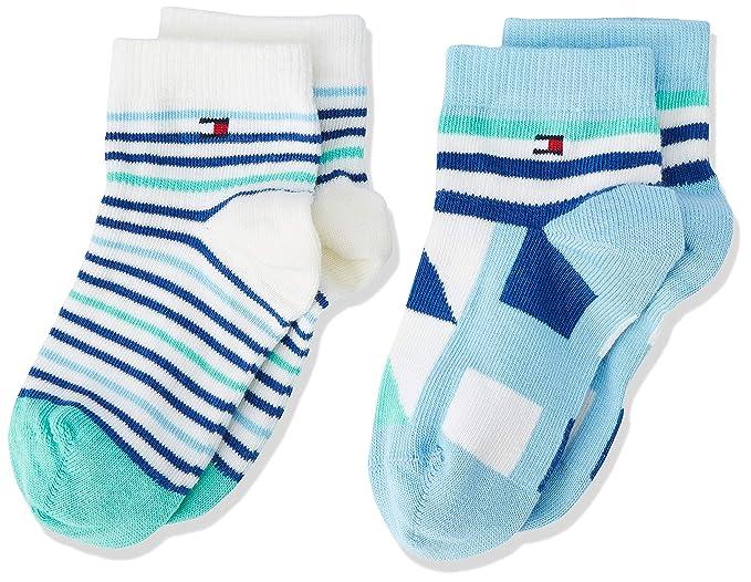 ec7dc24b8 Tommy Hilfiger TH Baby Boy Squares Sock 2p, Calcetines para Bebés,  Multicolor (Blue Combo 168) 15-18 Pack de 2: Amazon.es: Ropa y accesorios