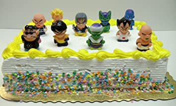 Dragon Ball Z Birthday Cake Topper Set Featuring Trunks Cell