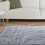 "Lavish Home High Pile Shag Rug Carpet, 21 x 36"", Grey"