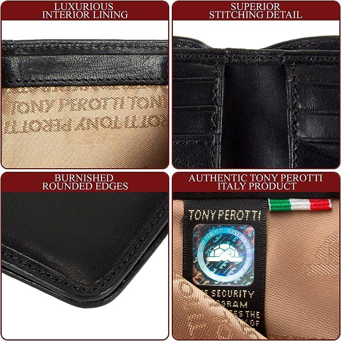 Leather Slim Coin Purse Tony Perotti Italian Leather Brown TP1107V