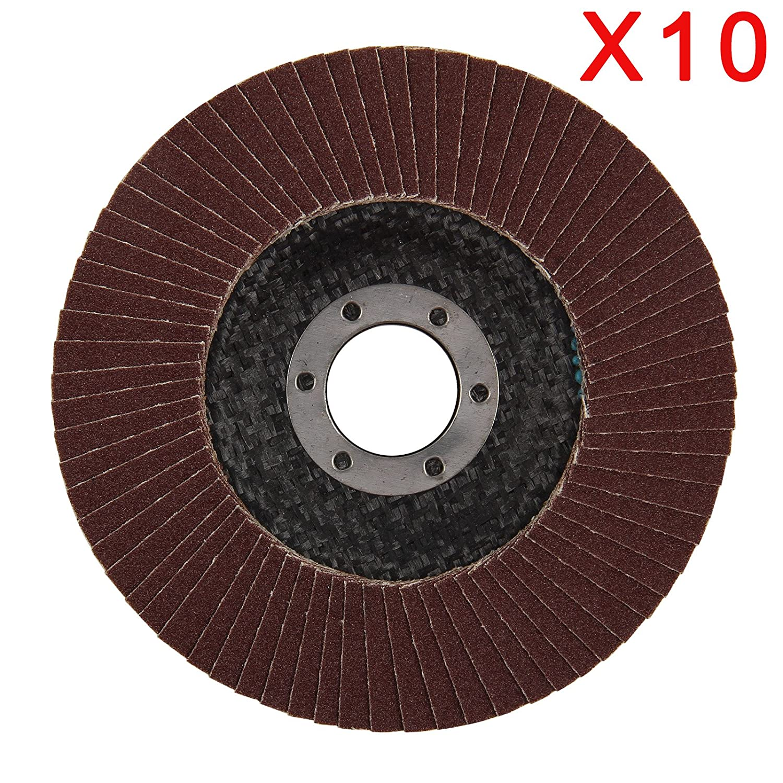 "10 PCS 40//60//80//120# 4.5/"" Grinder Grinding Wheel 115mm Blades Flap Angle Discs"