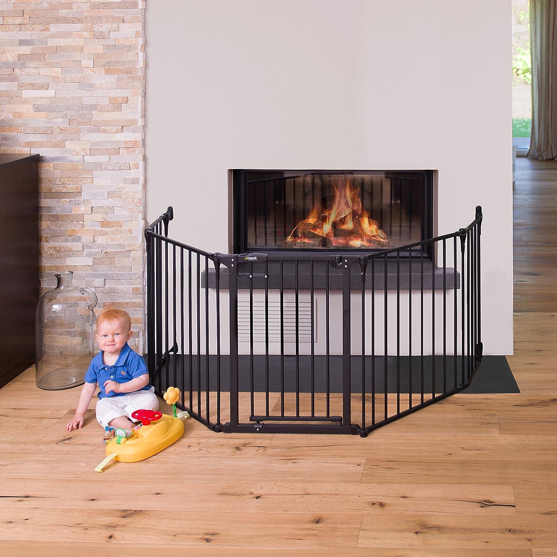 hauck fireplace guard x large charcoal amazon co uk baby
