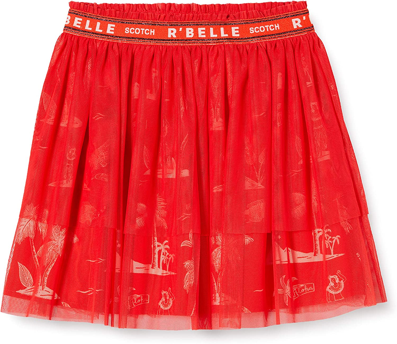 Scotch /& Soda Midi Length Tule Skirt with Elasticated Waistband Falda para Ni/ñas