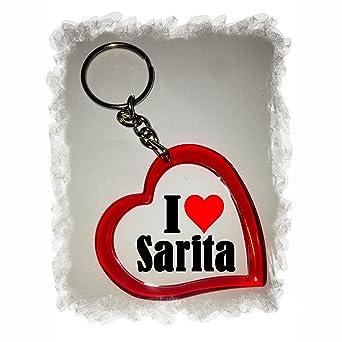 Heart Keyring Keychains I Love Sarita Amazoncouk Car Motorbike