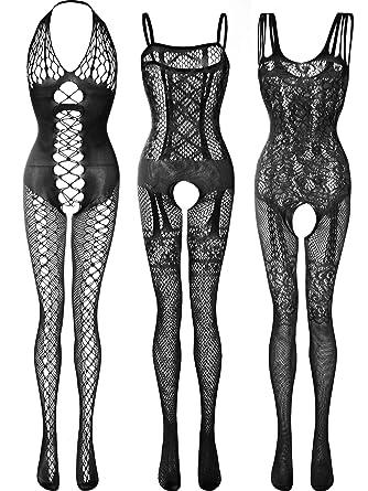 Amazon.com: 3 unidades de medias de encaje para mujer ...