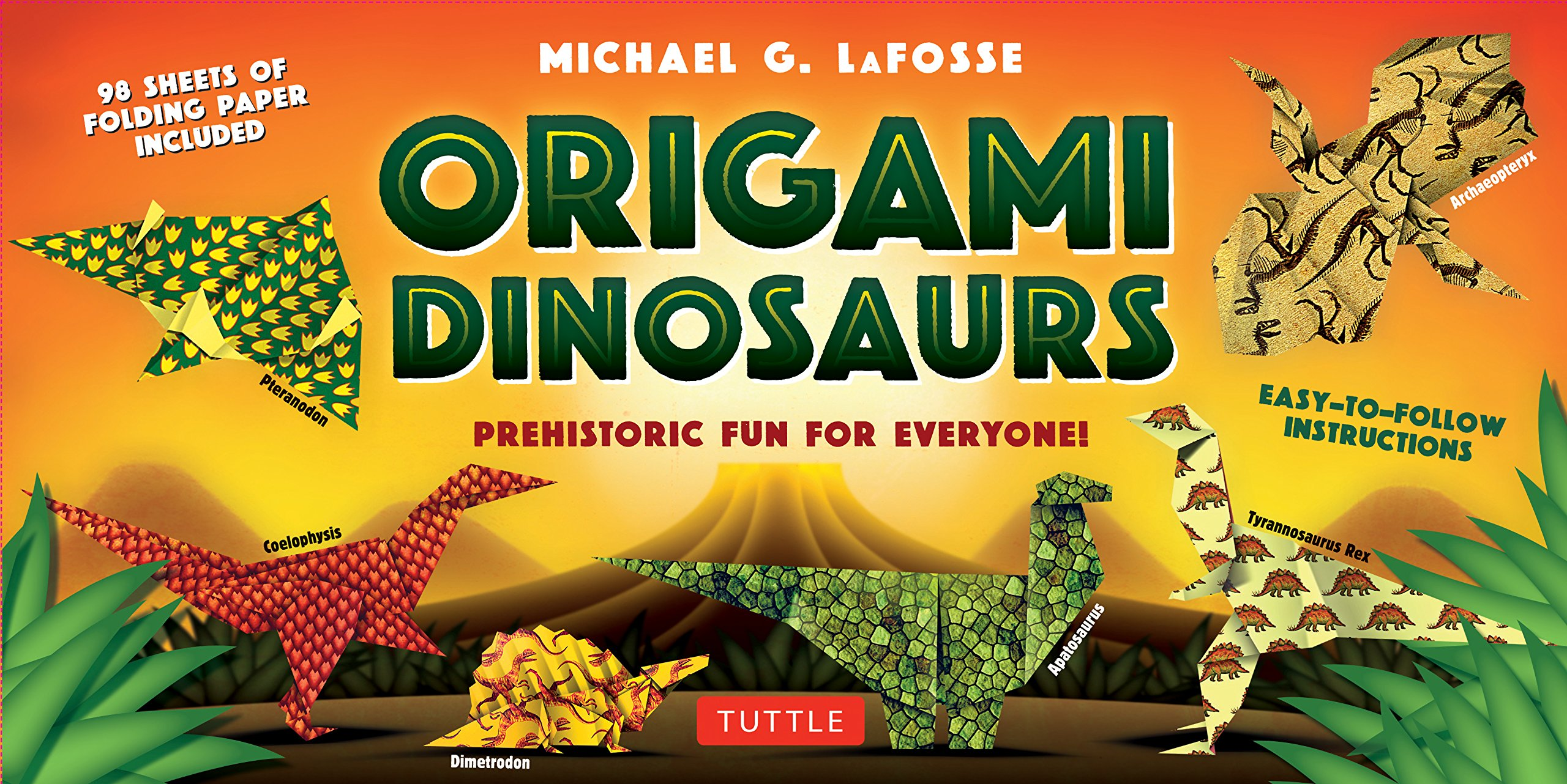 Origami Dinosaurs Kit: Prehistoric Fun for Everyone!: Kit Includes 2 Origami Books, 20 Fun Projects and 98 High-Quality Origami Papers Paperback – February 14, 2017 Michael G. LaFosse Tuttle Publishing 0804847053 Crafts for Children