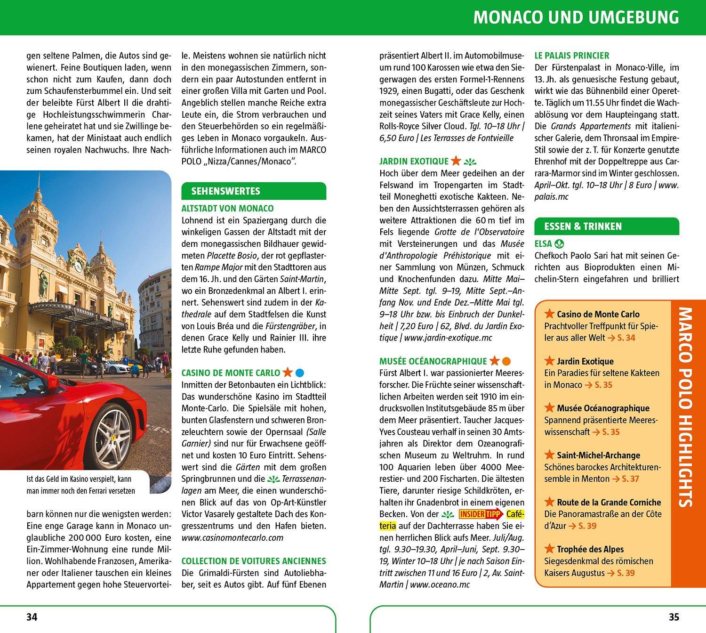 Marco Polo Reisefuhrer Cote D Azur Monaco Reisen Mit Insider