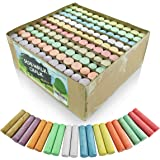 Sidewalk Chalk Set – Pack of 120 Multi-Color Jumbo Street Chalks – 10 Bright & Cheerful Colors – Nontoxic, Washable…