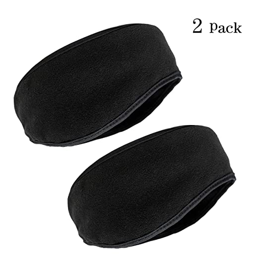 Men s X-Large Winter Headband Fleece Earmuff (Black) at Amazon Men s ... 3d575de1d42