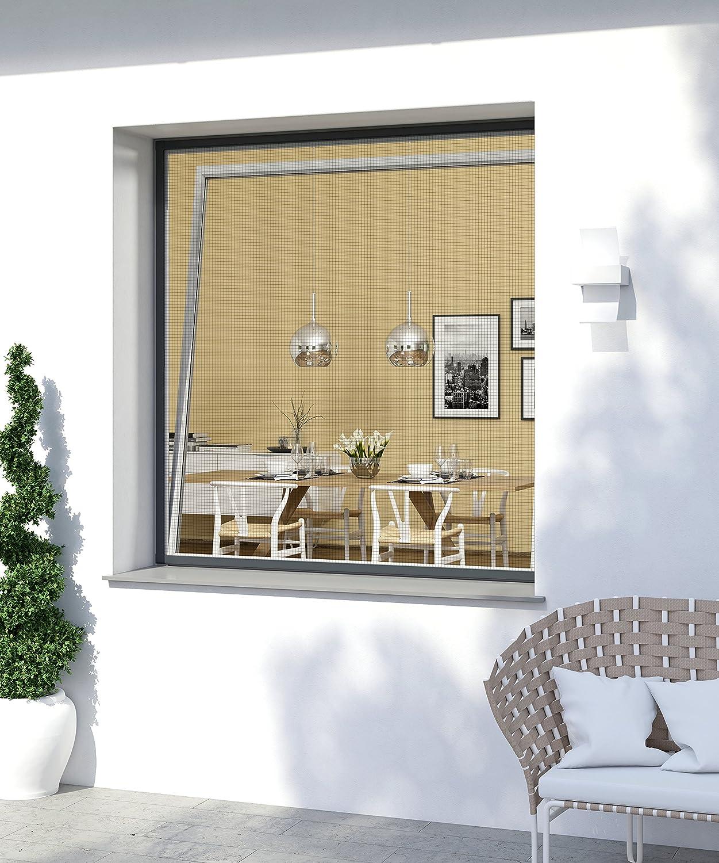 anthracite 100 x 120 cm Windhager Moustiquaire Cadre Fixe Pour Fenetres Expert 03996 Pare-moustiquaires Cadres en aluminium pour fen/êtres