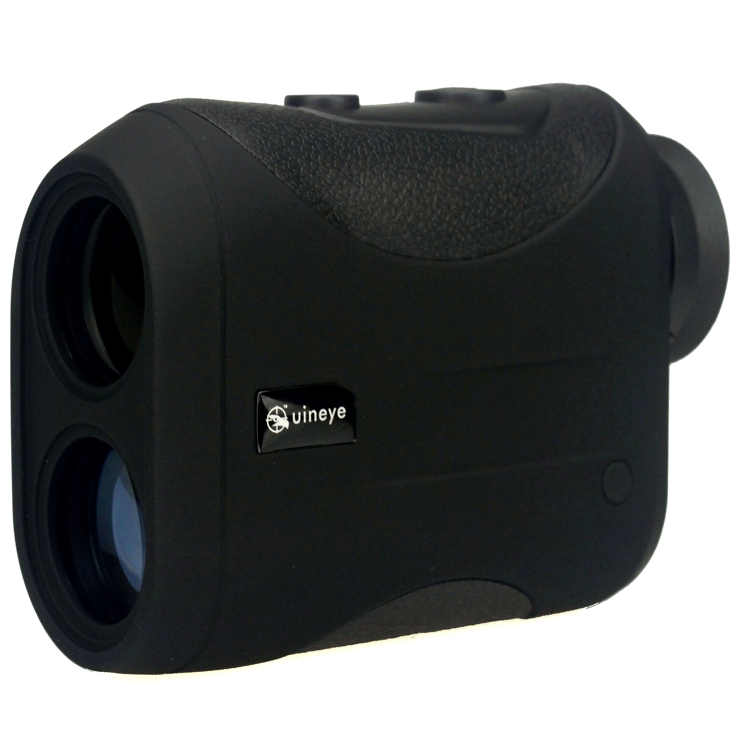 Golf Rangefinder - Range : 5-1312 Yards, +/- 0.33 Yard Accuracy, Laser Rangefinder with Height, Angle, Horizontal Distance Measurement Perfect for Hunting, Golf, Engineering Survey (Black) by Uineye