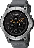 Nixon Mission Action Sports Smartwatch A1167. 10 ATM Water Resistant and Shock Resistant Men's Watch (48mm. Silicone Band)