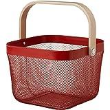 IKEA/イケア RISATORP :バスケット25x26x18 cm レッド(004.108.13)