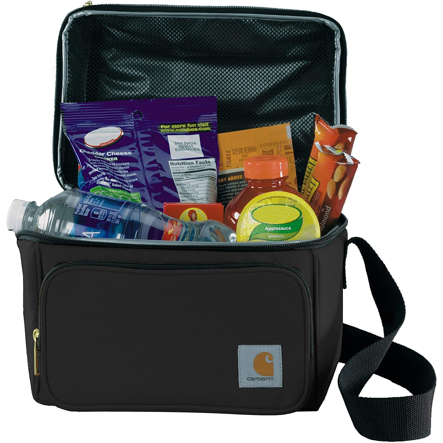 Black Carhartt Deluxe Dual Compartment Insulated Lunch Cooler Bag