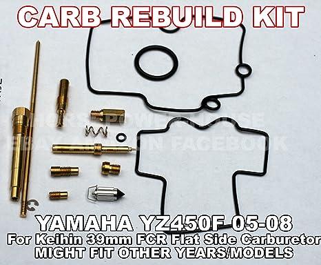 NOT FOR DRZ400 or most KTM models - Carb Carburetor Rebuild Kit with O-Ring  Gasket 160 Main 45 Pilot Slow 55 Leak Jet Needle Clip Spring and more for